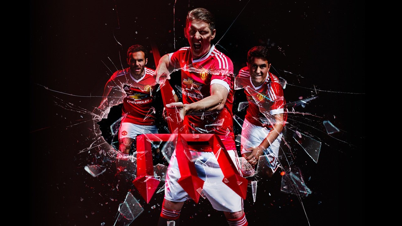 Adidas 2015/16 Manchester United Home Kit